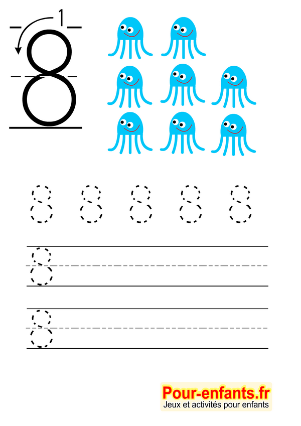 Top Apprendre à écrire les chiffres en maternelle gratuit cahier d  RJ04