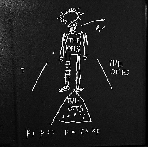 """Skot Foreman Gallery  Jean-Michel  Basquiat  """"Offs""""  1984 Offset lithograph    12 x 12 in  30 x 30 cm Limited edition of 2500 Printer: Stoughton Inc. Los Angeles, CA  Publisher: Buried Treasure, Inc.  (David Ferguson)"""