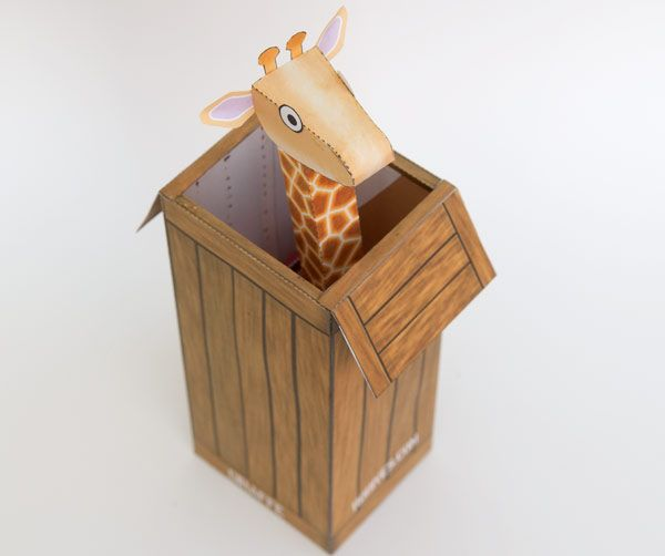 Giraffe-in-a-box. Download and Make! | www.robives.com