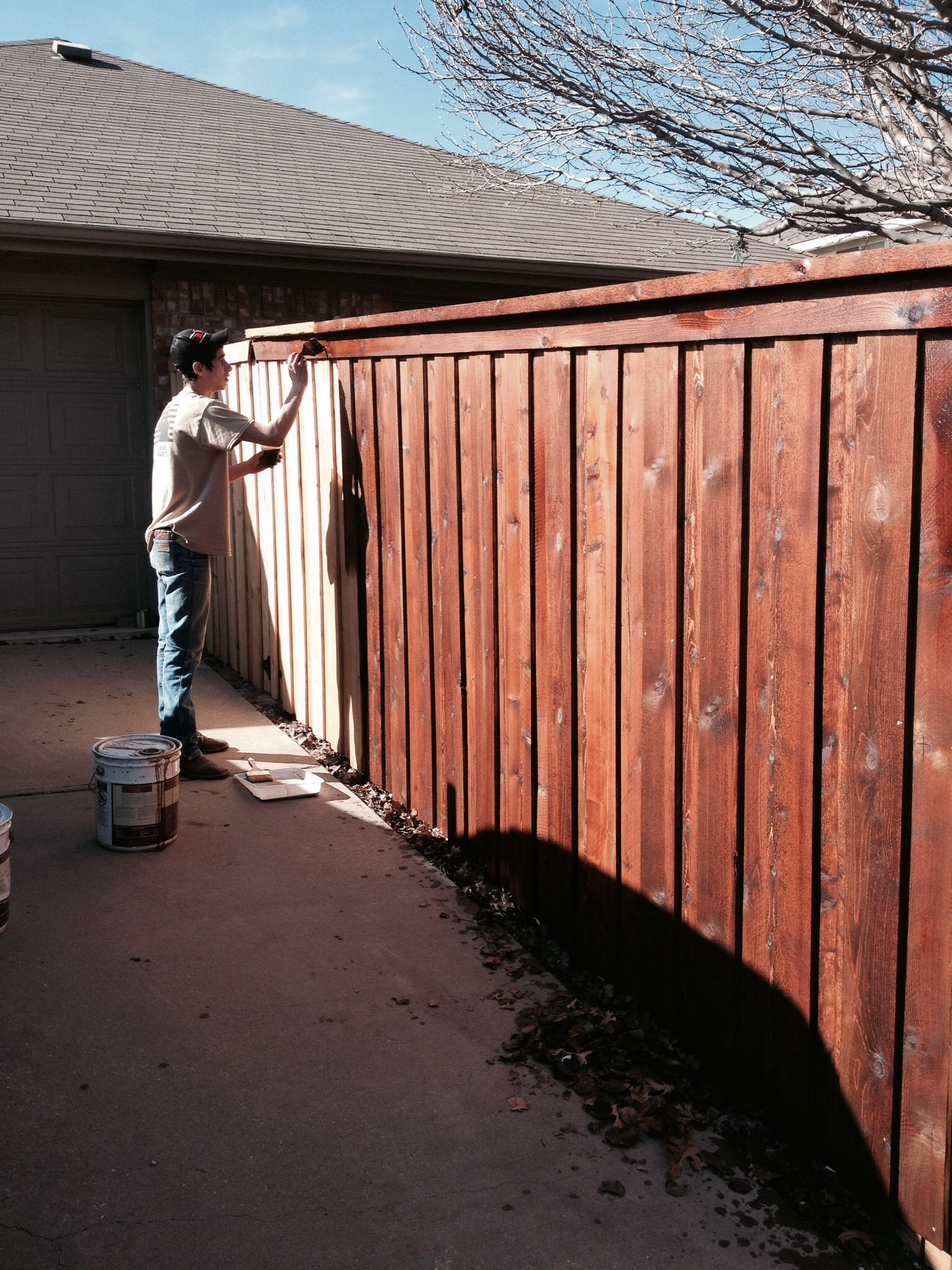 Fence staining by the absolute best in the business