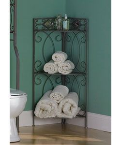 @Overstock - Make the most of small spaces with this stylish and functional corner shelving unit. This unit features elegant wrought iron-inspired swirl design.  Finish: Dark Pewter  Accented w...http://www.overstock.com/Home-Garden/Reflections-Corner-Shelving-Unit/2105630/product.html?CID=214117 $44.99