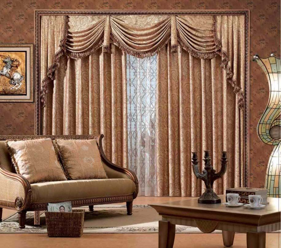 Decorating Living Room With Modern Minimalist Curtains Design