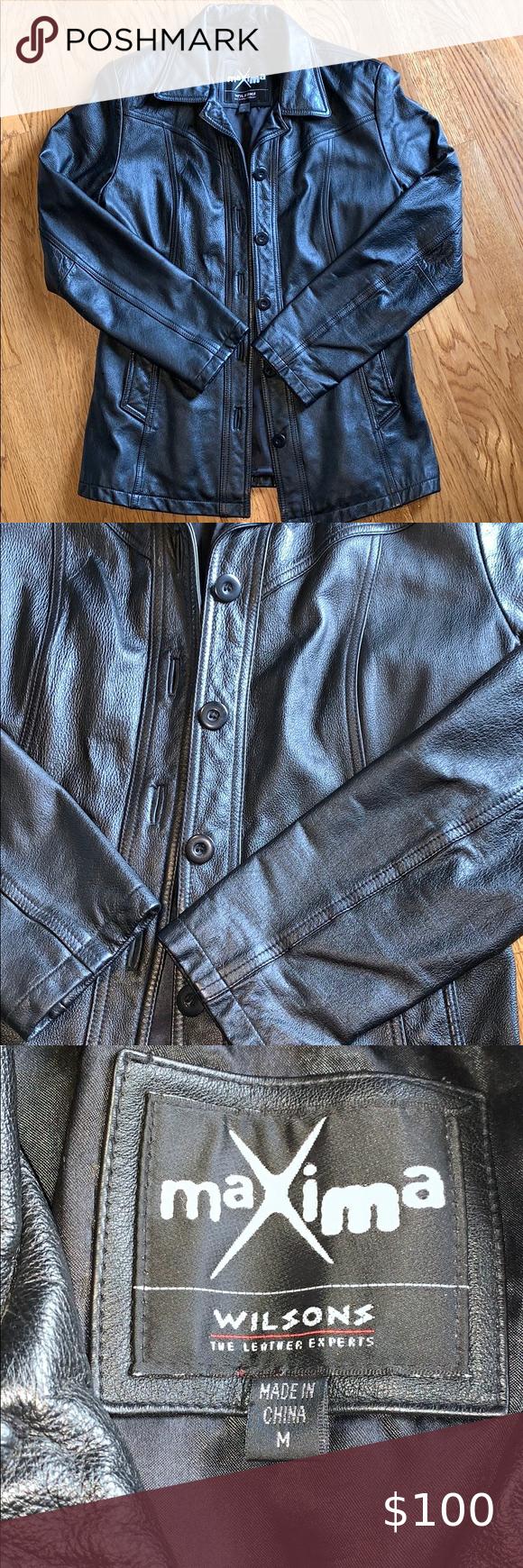Ladies Black Leather Jacket Medium in 2020 Womens