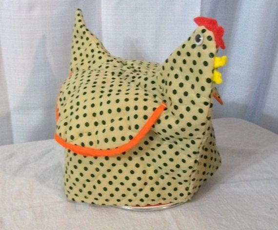 Vintage Toaster Cover Chicken Toaster Cover Small