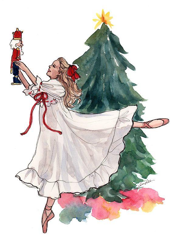 Новогодние открытки балерина, почему