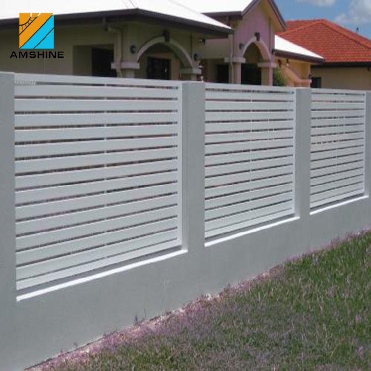 Slat Garden Horizontal Aluminum Fence Privacy Screen Aluminum Fence Privacy Privacy Screen Fence