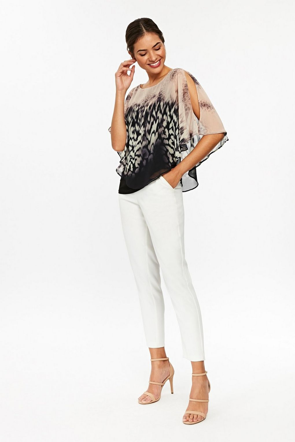 f44a11ddbc44 Stay chic in minimal animal prints this season | Wallis Animal Print Top