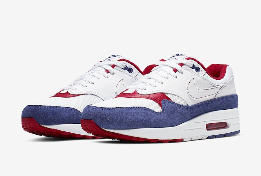 Nike Air Max 1 White Red Blue CJ9927 100 Release Date SBD