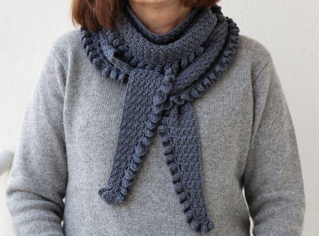 baktus crochet scarf | Uncinetto - punti | Pinterest | Gehäkelten ...