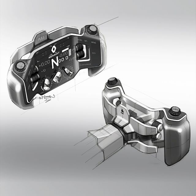 Renault Unveil Radical 2027 F1 Concept Car: Steering Wheel For Renault RS Vision 2027 Concept. Design