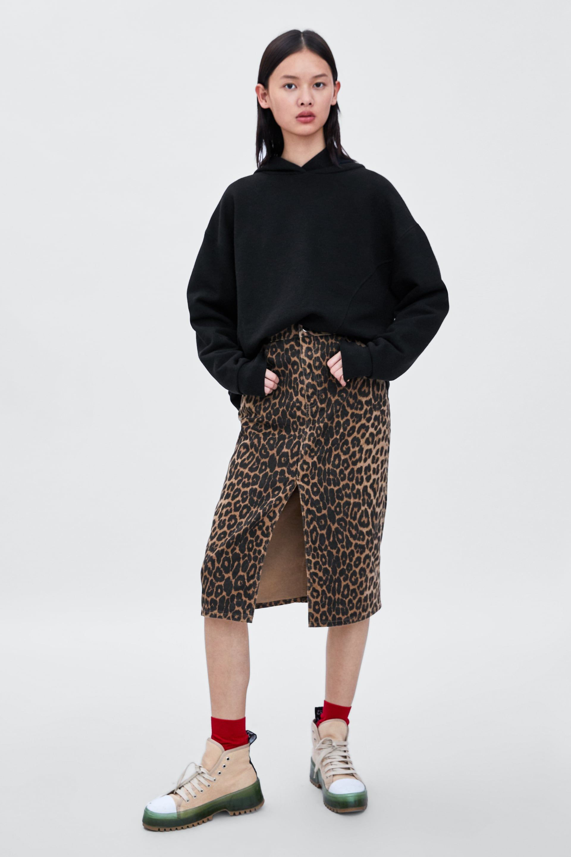 52563640c9 FALDA ESTAMPADO ANIMAL | Zara Spring 2018 collection | Leopard print ...