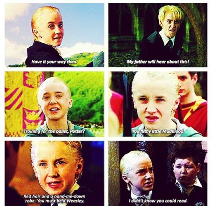 Draco Malfoy S Famous One Liners Harry Potter Hermione Harry Potter Lines Harry Potter Love