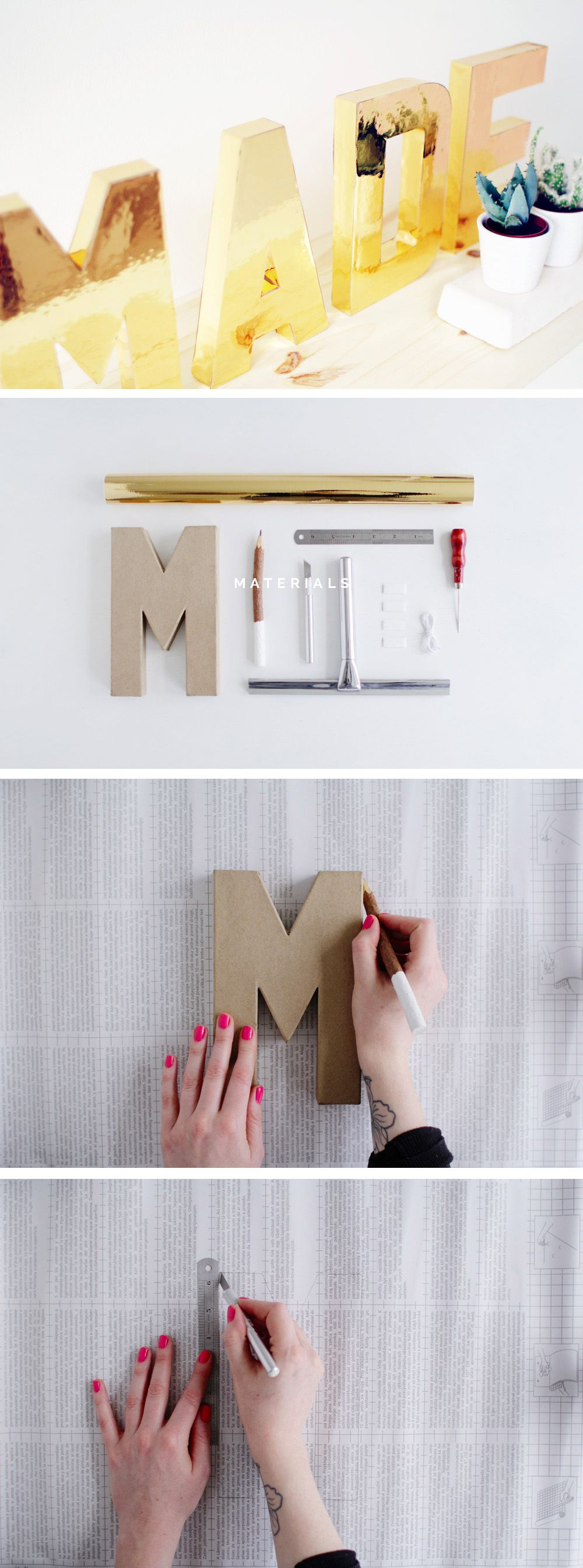 Fall For DIY Gold Letters Tutorial steps