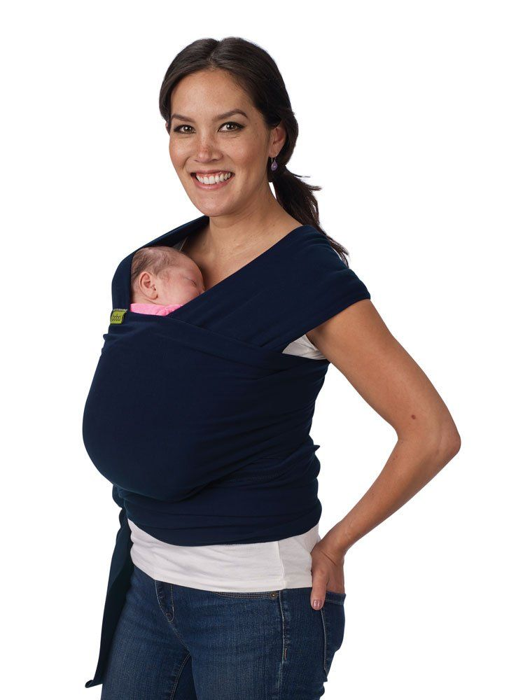 New Boba Wrap In Navy With Matching Carrying Pouch Infant Baby