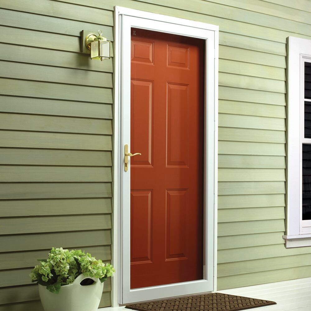Bring Your Home A Visual Appeal And Durability With Andersen Full View Interchangeable Storm Door Made Of D Aluminum Storm Doors Storm Door Garage Door Styles