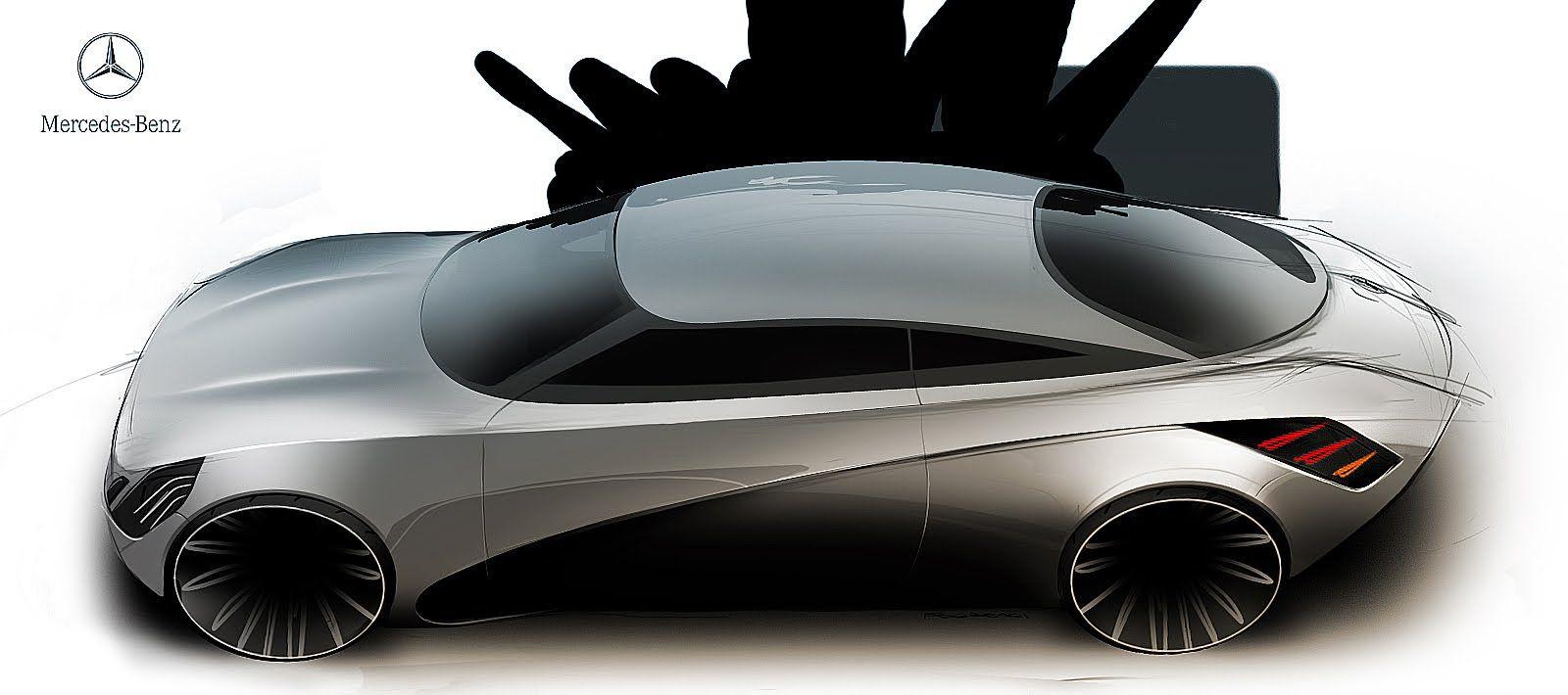 Laszlo Fogarasi Merc Car Sketch Sports Car Car