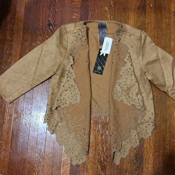 NWT- Forever21 Faux Suede Jacket Great condition. Brand new. Forever 21 Sweaters Cardigans