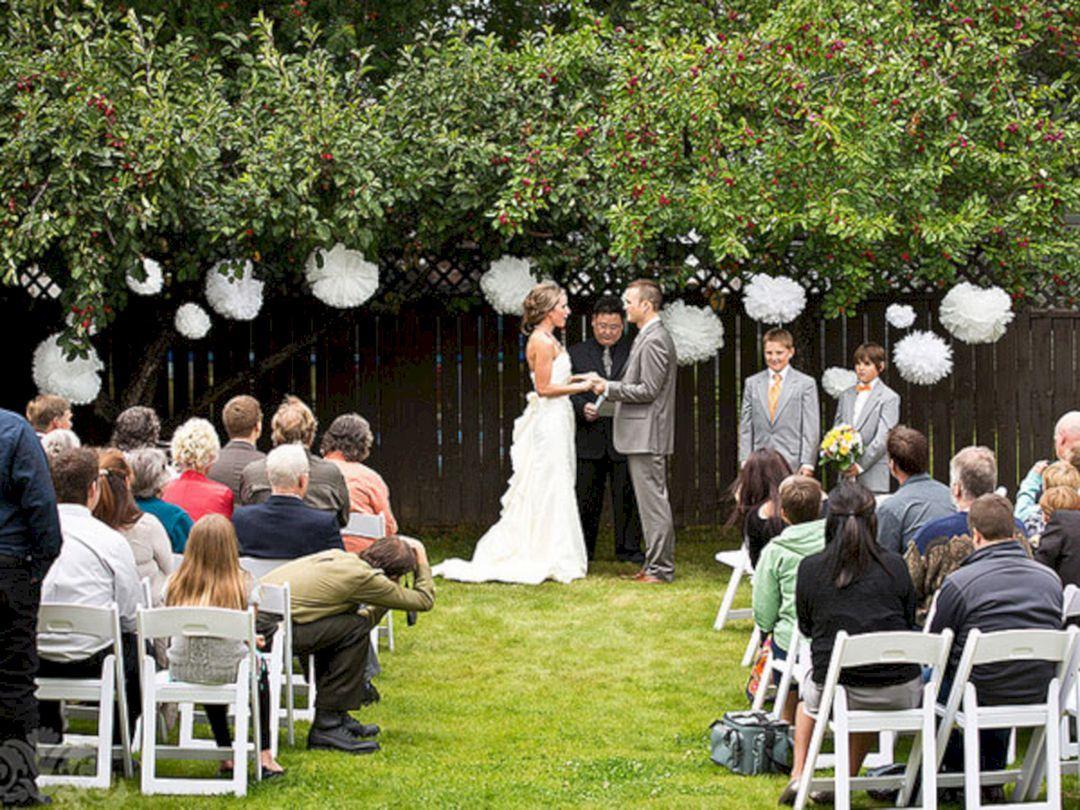 55 Best Backyard Wedding Decoration Ideas On A Budget Backyard Wedding Ceremony Diy Backyard Wedding Backyard Wedding Decorations House small backyard wedding reception