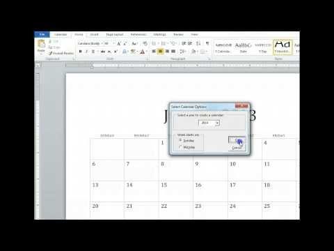 ▷ How To Create An Editorial Calendar in Microsoft Word - YouTube