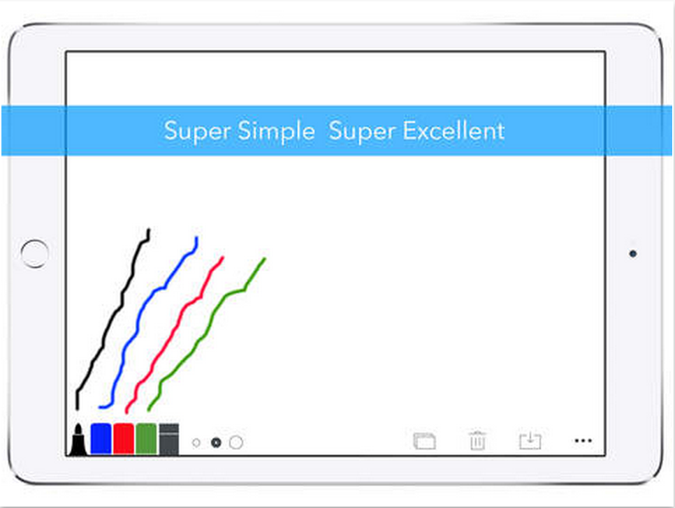 A Very Simple Digital Whiteboard App for Teachers