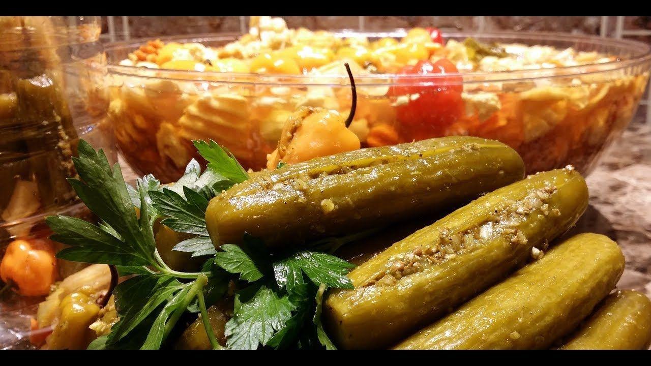 طرشي الخيار بحشوه رهيبه وطعم خيالي تحضيرات رمضان 2018 مطبخ شاي مهيل الشيف ام محمد Youtube Cooking Recipes Recipes Cooking