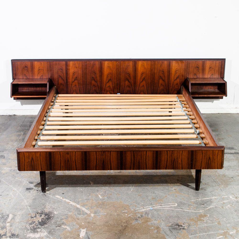 Mid Century Danish Modern Bed Frame Headboard Brazilian