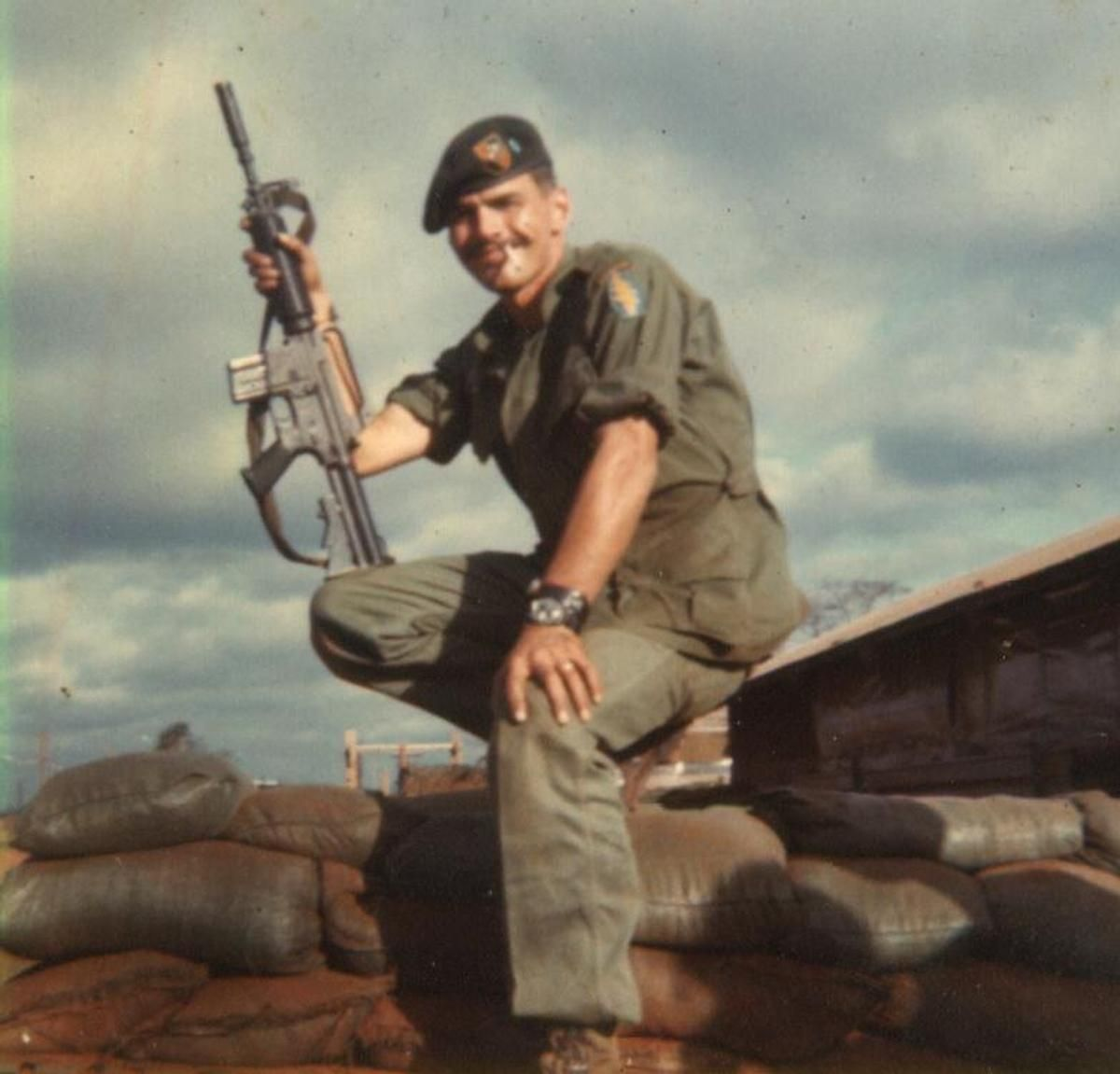 My kid brother loved this poito 1969 Army Vietnam SOA/CCS, 5th SFG(A) Ban Me Thout