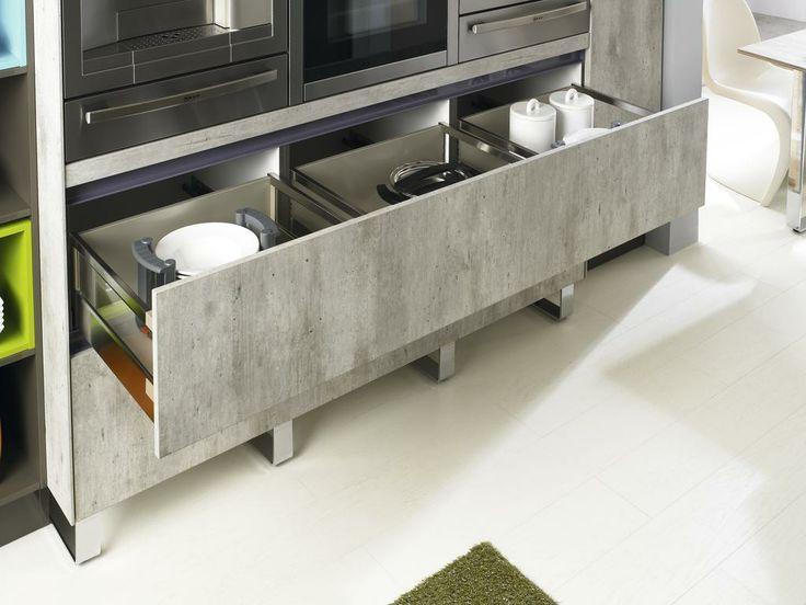 Concrete Kitchen Cabinets Cool Of Bauformat Brest 186 Concrete Looking  Kitchenu2026
