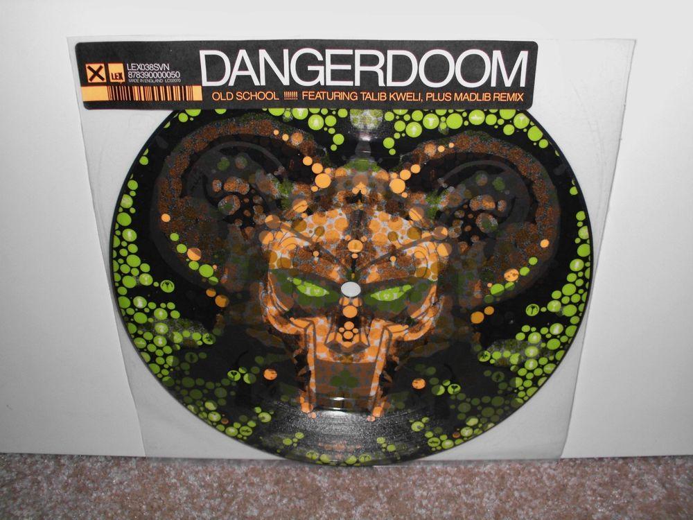 Danger Doom Old School 7 Vinyl Lp Ft Talib Kweli Madlib Remix Mf Doom Oldschool Vinyl Vinyl Records Old School