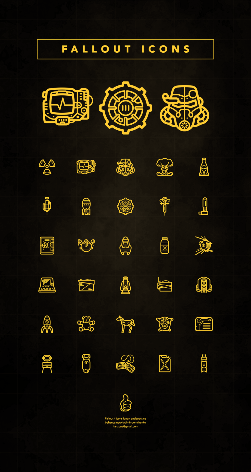 Fallout icons vladimir demchen miscellaneous pinterest ideas fallout icons vladimir demchen gumiabroncs Image collections