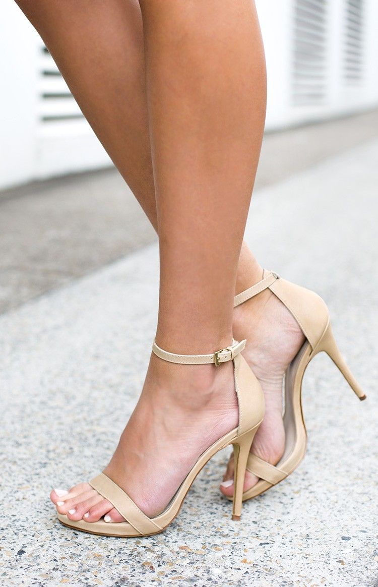 f38348423015ab Windsor Smith Christy Heels Bone Leather - Nude heeled sandals ...