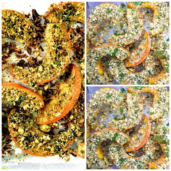 Parmesan & Herbs crusted Baked Squash