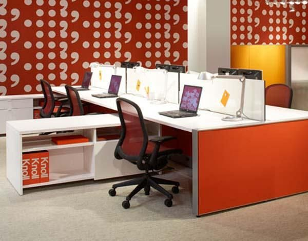 comfortable small office interior design with simple and stylish