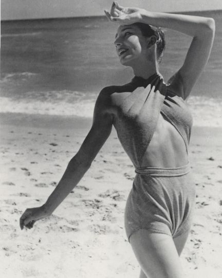 acd5d05d6d Claire McCardell swimsuit. Photo was shot by Louise Dahl-Wolfe in 1945