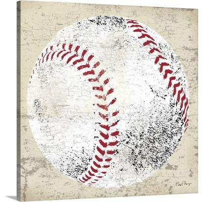 Greatbigcanvas Vintage Baseball By Peter Horjus Canvas Wall Art Multi Color In 2020 Baseball Wall Art Abstract Canvas Painting Canvas Poster