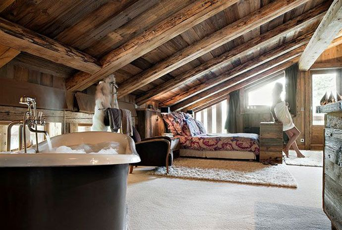 Spend Your Holiday In A Cozy Chalet From French Alps #bedroom #interior