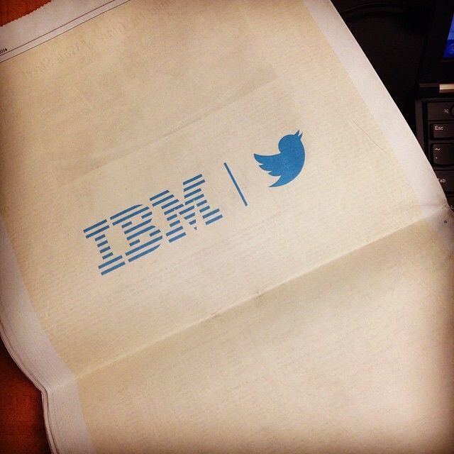 #IBMandTwitter in the WSJ. Photo credit: @jfredette77