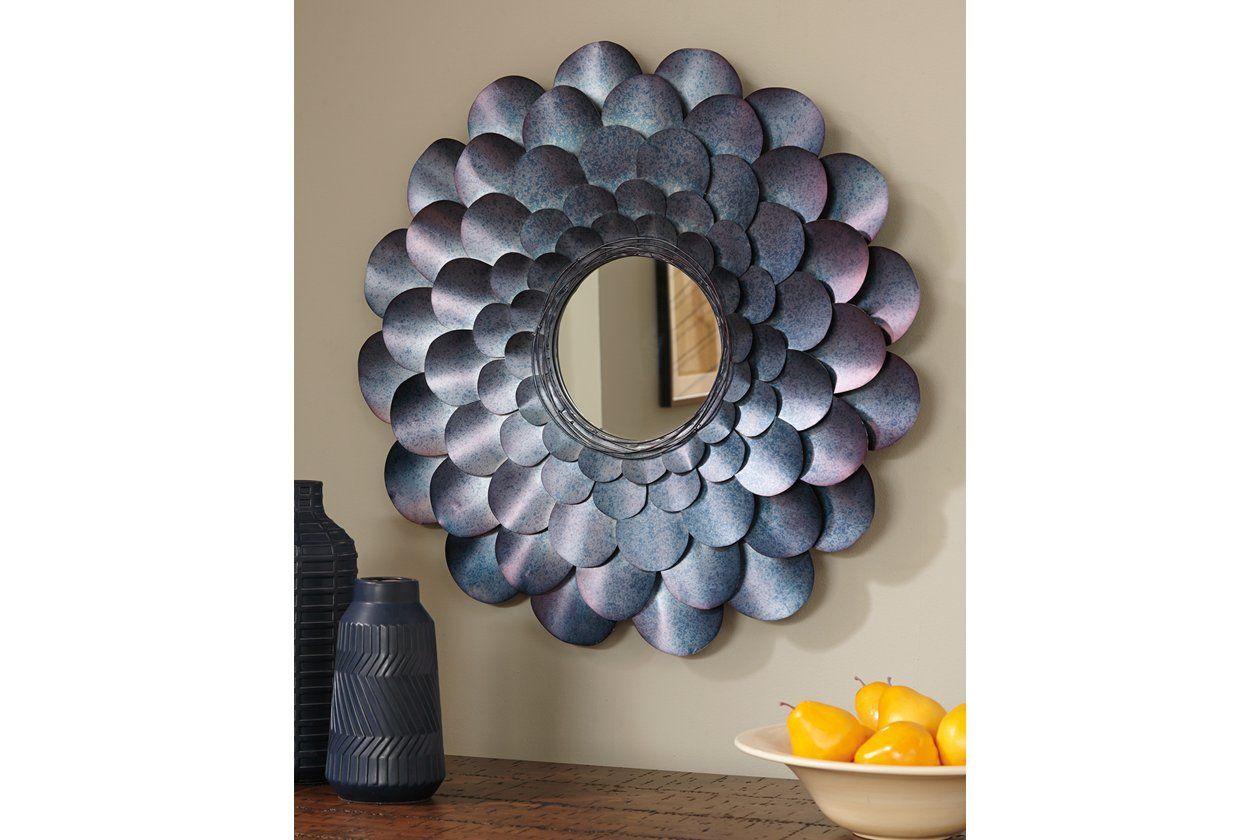 Deunoro Accent Mirror Accent Mirrors Signature Design By Ashley Round Wall Mirror