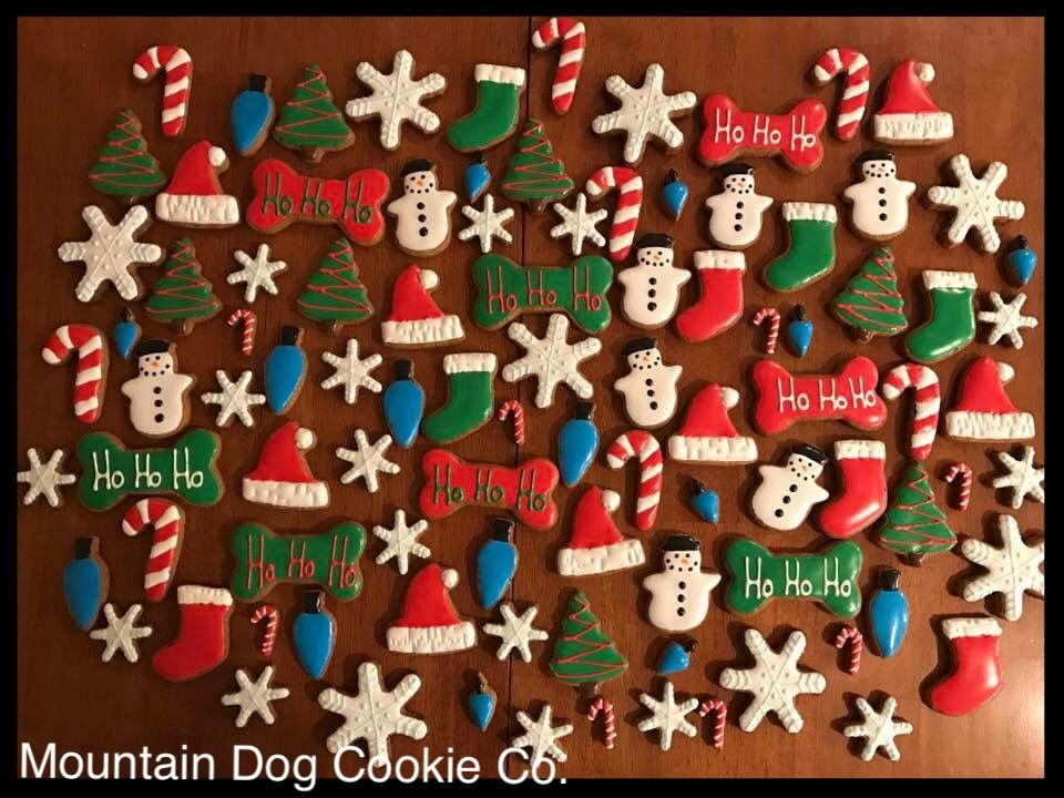 Christmas Dog Treats Mountain Dog Cookie Co Knows What Dogs Want