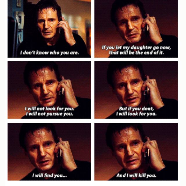 Taken Love Love Love This Movie And Liam Neeson Talk Nerdy To