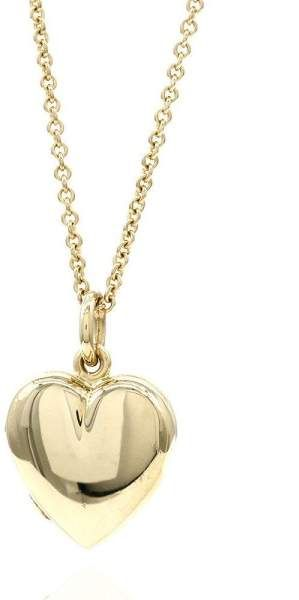 ab7ce800e Tiffany & Co. 14K Yellow Gold Heart Locket Necklace | Accessories ...