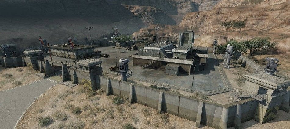 Crysis Military Base Star Fort Landscape Scenery Military Base
