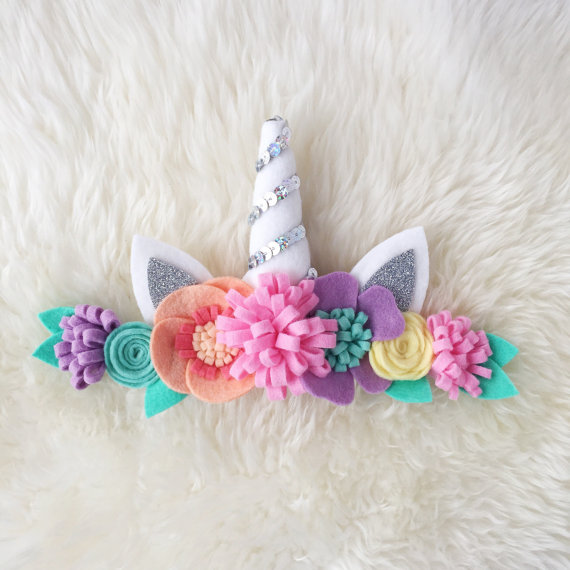 Unicorn flower crown    unicorn rainbow sherbet headband  133039a7f16