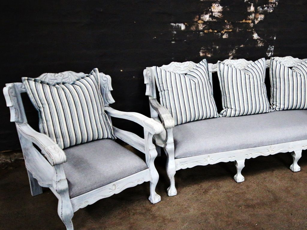 Striped Ball And Claw Set Sofa Makeover Furniture Furniture