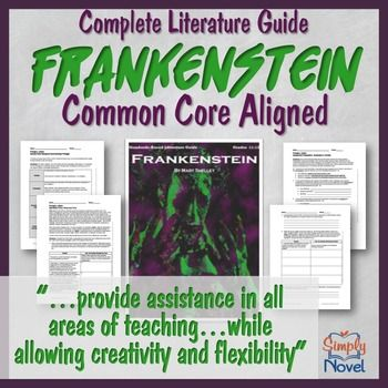 Frankenstein Literature Guide Lesson Bundle For Mary Shelley S Frankenstein Teaching Guides Literature Pre Reading Activities