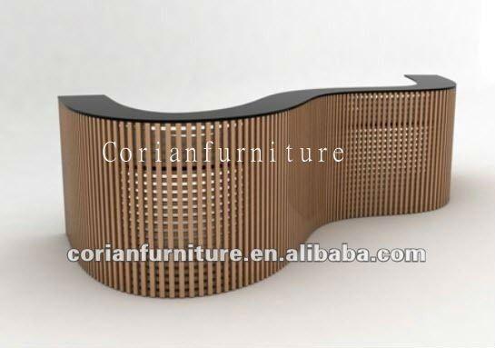 De madera maciza corian mostrador curvada barra de inicio - Barras de madera para bar ...