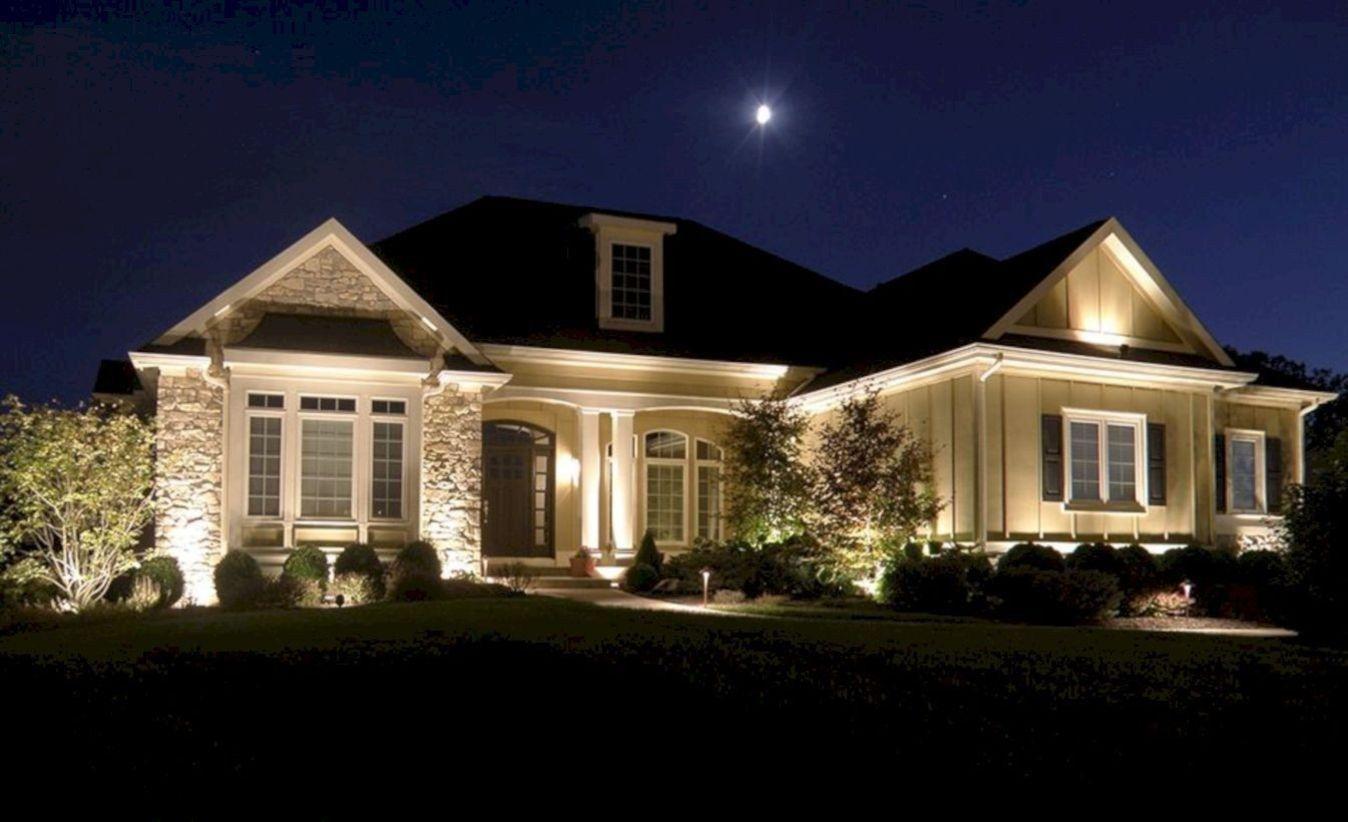 42 Front Yard Exterior Design With Beautiful Garden Lights Matchness Com Landscape Lighting Design Outdoor Lighting Landscape Landscape Lighting