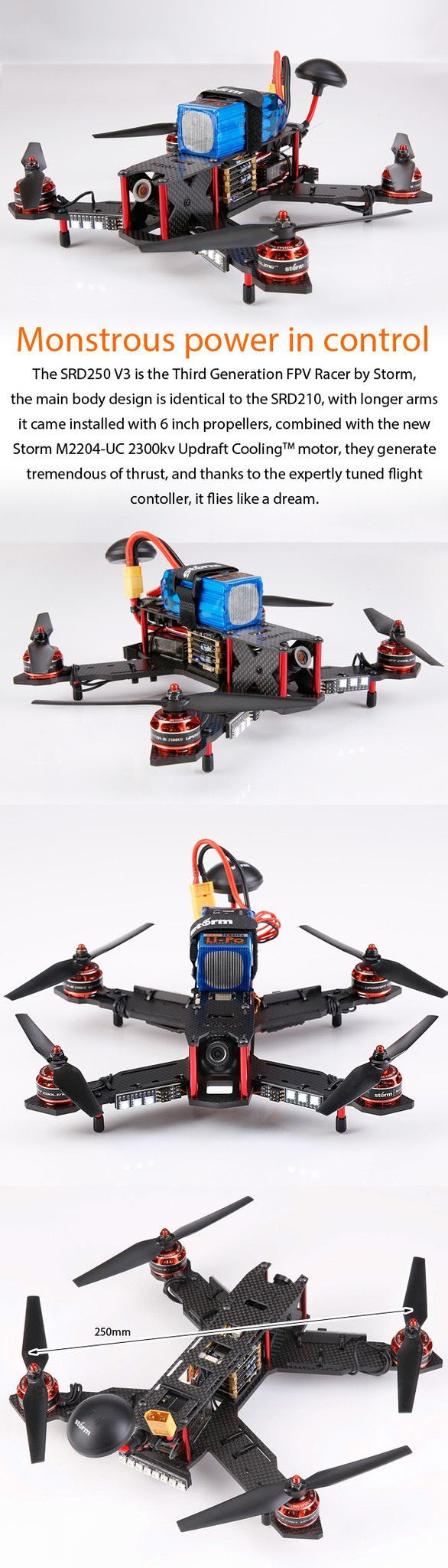 Storm Racing Drone Rtf Srd250 V3 Tbs Powercube In 2019 Naze32 Wiring Diagram