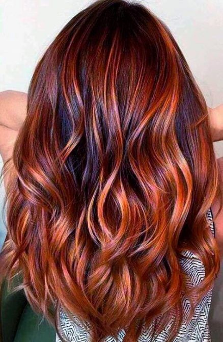 27 Ideas hair red copper ombre #copperbalayage