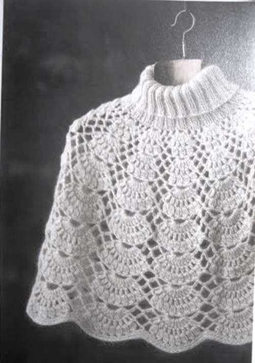 Patron para hacer poncho tejido a crochet gratis03 | chan | chan ...